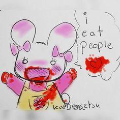 katdensetsu:  #cutebutpsycho  --------------------------  #bunny #kawaii #rabbit #aww #bloody #blood #morbid #colored #colorful #cute #cannibal #ieatpeople #stickynote #pendoodle #stickynotes #doodle #myart #traditionalart #artistsoninstagram #art #drawing #illustration #artist #phoenix #losangeles #cartoon #comedy #funny #cartoonist  cute kawaii bunny usagi bloody art artist art work artist on tumblr #anime #cosplay #costume #otaku #gamer #videogames