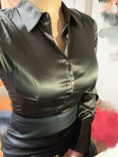 What a rack! Satin Skirt, Satin Dresses, Satin Underwear, Satin Bluse, Bollywood Actress Hot Photos, Black Leather Skirts, Blouse Outfit, Casual Chic Style, Silk Satin