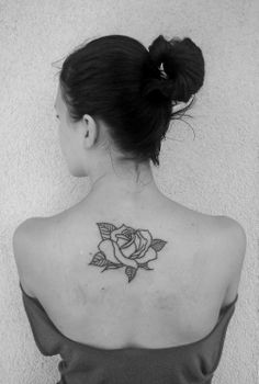 rose tattoo back