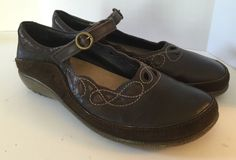 NAOT Rahina French Roast Leather/hash Suede Mary Janes Size 39 / 8.5 Dark Brown #NAOT #MaryJanes #All