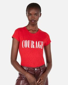Express One Eleven Courage Slim Graphic Tee