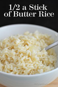 Awesome side dish recipe! | 1/2 a Stick of Butter Rice- amazing rice that's super easy to make! | www.thirtyhandmadedays.com