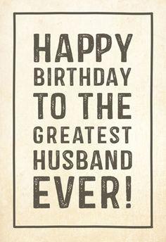 Free Printable Birthday Card - Greatest husband | Greetings Island