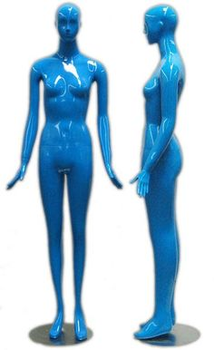 A Glossy Blue Mannequin