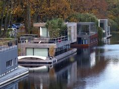 Houseboats in Hamburg, Germany