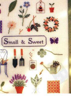 Cross stitch embroidery Kazuko Aoki by LibraryPatterns on Etsy