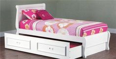 KING SINGLE COPENHAGEN BED WITH KING SINGLE TEENAGE TRUNDLE - ARCTIC WHITE - Australias Best Online Furniture & Bedding Store
