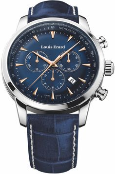 Louis Erard Watch Heritage Quartz Chrono #add-content #bezel-fixed #bracelet-strap-leather #brand-louis-erard #case-material-steel #case-width-42mm #chronograph-yes #date-yes #delivery-timescale-call-us #dial-colour-blue #discount-code-allow #gender-mens #luxury #movement-quartz-battery #new-product-yes #official-stockist-for-louis-erard-watches #packaging-louis-erard-watch-packaging #style-sports #subcat-heritage #supplier-model-no-13900aa15-bdc102