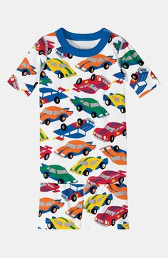 Hanna Andersson Two Piece Fitted Short Pajamas (Little Boys & Big Boys) available at Nordstrom