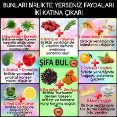 If you eat them together, double the benefits! - Elif Senbahar - - If you eat them together, double the benefits! Yoga Pilates, Diet Reviews, Viking Tattoo Design, Sunflower Tattoo Design, Prostate Cancer, Homemade Beauty Products, Diet And Nutrition, Dog Food Recipes, Healthy Life