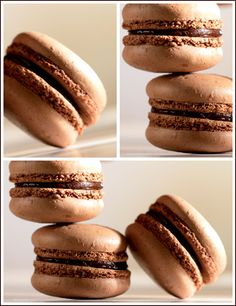 Chocolate Macarons with chocolate ganache! @Shelley Parker Herke Engstrom  Are you drooling yet?