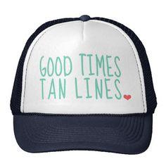 Good Times Tan Lines Summer hat girls