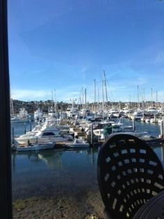 View of the Marina from the outdoor patio, Blue Wave Bar & Grill  |  2051 Shelter Island Dr, San
