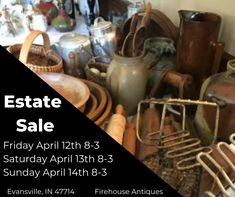 "Greetings antique lovers! So many have been asking us, ""When is your next Estate Sale?"" You will love these two sales! Yes, that is what I said, this sale is two houses that belong to a mother and a daughter. They live across the street from each other, so we are selling the contents of two houses on the same dates and times.  The estate sale is set for Friday April 12 – Sunday April 14, 2019 8am-3pm for both houses and they are full of the types of estate items you love to fin"