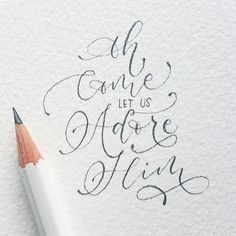 handlettering and calligraphy with gorgeous illustrations. Pencil Calligraphy, Calligraphy Letters, Typography Letters, Modern Calligraphy, Handwritten Typography, Calligraphy Quotes, Types Of Lettering, Brush Lettering, Creative Lettering
