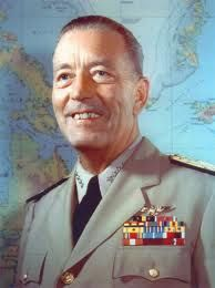 Admiral Arthur W. Radford, Chairman, Joint Chiefs of Staff, Washington, D.C.; Spring Commencement 1955