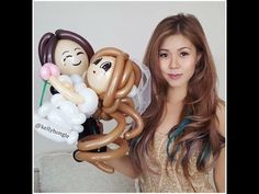 How to make a bride and groom balloon - YouTube