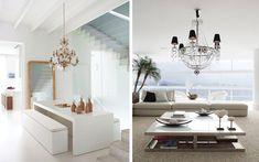 Lámparas de araña para la decoración de espacios (I)  |  DECOFILIA.com