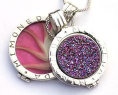 Mi Moneda Royal Quartz Multi & Nautilus Pink - Made by: www.Handmadebeads.nl