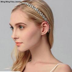 >> Click to Buy << Brilliant Women Bridal Hair Accessories Shiny A-grade Crystal Leaf Elastic Headband Wedding Headpiece, Free Shipping  #Affiliate