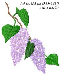 Soon lilacs will be blooming in my area. Even if you don't have these lovely flowers growing in your area, you can sew them into special springtime projects.