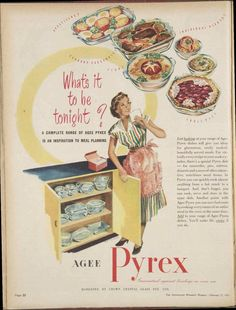 AGEE PYREX DISH KITCHENALIA AD 1951 original vintage AUSTRALIAN old advertising in Collectables, Advertising, Print Advertising | eBay!