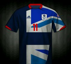 Great Britain home football shirt for the 2012 Olympic Games.