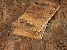 Cork Wall Tiles from Cali Bamboo are easy-to-apply wall panels layered with the sustainable, raw bark of the cork oak tree. These tiles are durable and offer sound-dampening and insulation.  See a video of this and other top products from I Want That.