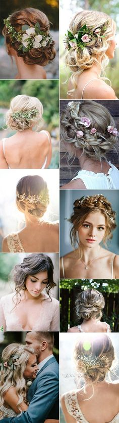 updos boho chic wedding hairstyles #weddinghairstyle #weddinghair #bohowedding #weddingideas #weddinginspiration