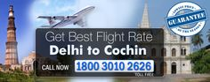 TripToWay offers the best discount ever you can get from your travel booking agents. So what are you waiting for just come on our site and book New Delhi to Cochin Flights online or call us at 1800 3010 2626 for any queries.