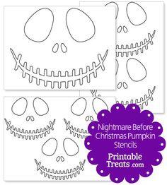 Printable Nightmare Before Christmas Pumpkin Stencils from PrintableTreats.com