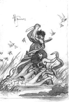 Xenozoic Cover Prelim Idea Comic Art