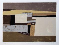 Charles MONNIER, 1925 - 1993 Titre: Paysage abstrait Technique: Sérigraphie signée et justifiée par l'artiste 42/124 Dimensions en mm: 425 x 345, marges non comprises