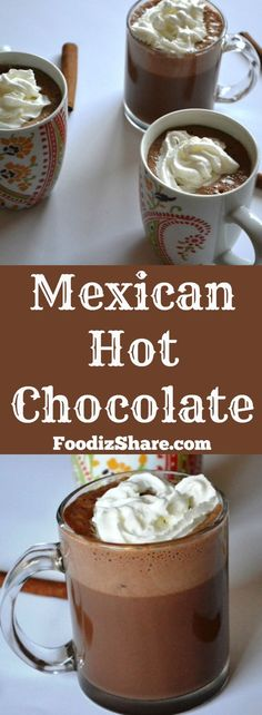 A traditional Mexican Hot Chocolate drink that is fabulous on cold days or on any day of the year.