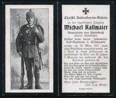 orig. WK1 STERBEBILD - DEATH CARD - Inf. Leib Regt. - TOP Foto - Pickelhaube