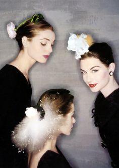 Elsa Martinelli, Candy Tannev & Nancy Berg, 1954 by Clifford COFFIN