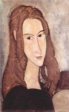 Portrait of Jeanne Hebuterne - Amedeo Modigliani 1918