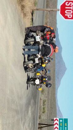 Stretching legs at the turn off to Uniondale exiting the Baviaanskloof on the Western side!