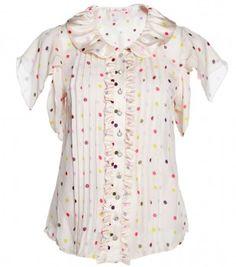 Alannah Hill polka dot blouse
