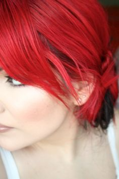 Red Hair How-To - quick explanation-- Here's the requested video on how I dye my hair bright red! I hope it's helpful! Red Copper Hair Color, Dye My Hair, Cute Hairstyles, Hair And Nails, Hair Inspiration, Short Hair Styles, Hair Makeup, Pretty, Infj