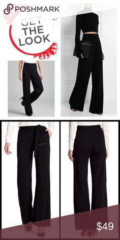 """FLARE DRESS LEG SLACKS Looking to add some me drop dead chic to your day/night? Start with these sexy feeling knit flare slacks! ▪️Back zip ▪️2 front slant pockets ▪️Removable waist tie  ▪️High rise ▪️Wide leg ▪️Approx. 14"""" rise ▪️32"""" inseam ▪️Rayon/Nylon/Spandex  ▪️Hand Wash/Dry Clean  🛍 2+ BUNDLE=SAVE  ‼️NO TRADES--NO HOLDS--NO MODELING  💯 Brand Authentic  ✈️ Ship Same Day--Purchase By 2PM PST  🖲 USE BLUE OFFER BUTTON TO NEGOTIATE   ✔️ Ask Questions Not Answered In Description--Want You…"""