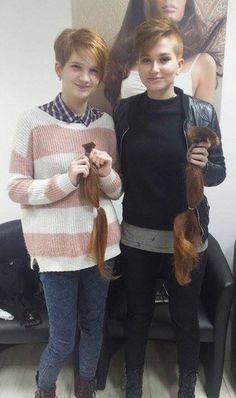https://flic.kr/p/RHeEbf | She went short | A pair of Rapunzels get severely shorn