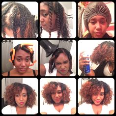 Natural hair...twist and curl Flexi rods Flat twists