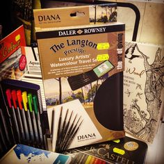 Diana Kolinsky Sables - amazing limited offer for Christmas - over £200 worth of top quality brushes for only £55.89 (plus a nice case and watercolour pad) perfect Christmas gift for am artist #kolinsky #sablebrushes #giftideas #lovelancaster