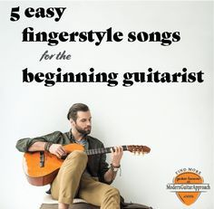 These 5 easy guitar fingerstyle songs are fun to play and perfect to perform for others. In this lesson, you will learn some great guitar arrangements of classic songs. Songs like Blackbird Guitar Tabs Songs, Music Guitar, Playing Guitar, Learning Guitar, Violin, Guitar Chords Beginner, Guitar For Beginners, Fender Squier, Easy Guitar