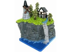 Castle sets have been made many times, and microscale sets have too, so why not combine the two? This micro village includes a watermill and a windmill, built atop a cliff, co...