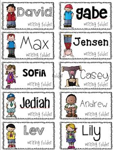 Let's get organized! {FREEBIE!} student name labels