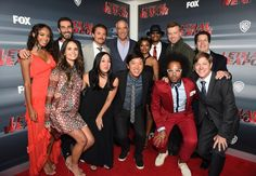 LETHAL WEAPON: Pictured L-R top row: Chandler Kinney, Executive Producer Matt Miller, Clayne Crawford, Chairman and CEO of Fox Television Group, Gary Newman, Keesha Sharp, Damon Wayans, Executive Producer McG, President of Warner Bros Television Group, Peter Roth. Bottom row L-R: Jordan Brewster, Executive Producer Jennifer Swartz, Executive Producer Dan Lin, Johnathan Fernandez and Kevin Rahm celebrate the LETHAL WEAPON premiere party at NeueHouse Hollywood on Monday, Sept. 12, in Los…