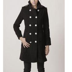wool overcoat in black FM012 IMMEDIATE SHIP by FM908 on Etsy, $108.00