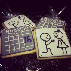 Wedding shower cookies.